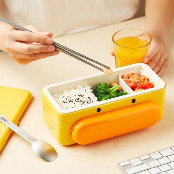 Cute Duck Self Heat Lunch Box 2 - Sneapy