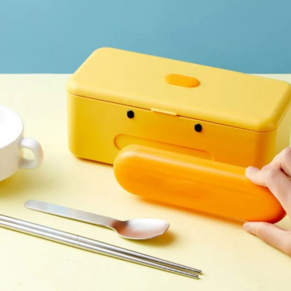 Cute Duck Self Heat Lunch Box 4 - Sneapy